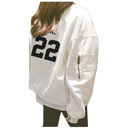 Cerniera Lunga Primaverile 4 Giubbino Donna Outerwear Sciolto Cappotto Con Alta Semplice Eleganti Giaccone Stampate Di Autunno White Manica Qualità Prodotto Plus Glamorous Digitale Casual Moda 1CST1