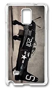 MOKSHOP Adorable f8f bearcat Hard Case Protective Shell Cell Phone Cover For Samsung Galaxy Note 4 - PC Transparent