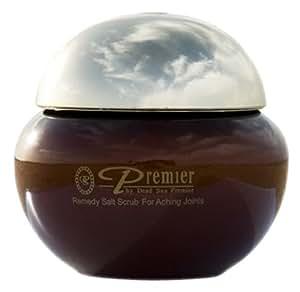 Premier Dead Sea Remedy Salt Scrub for Aching Joints, Salt Scrub, Brown Jar, 425-Grams