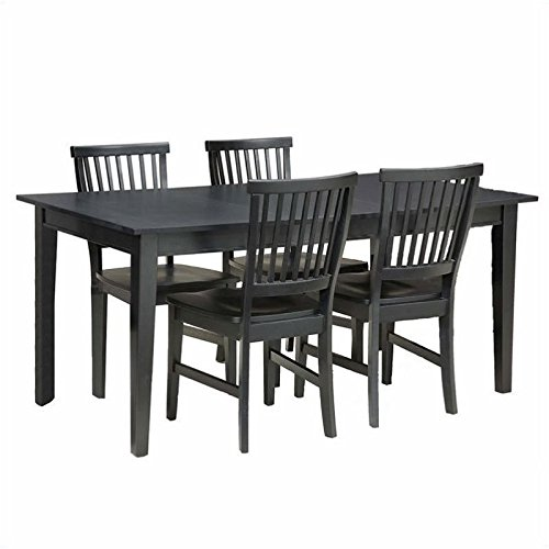 Hawthorne Collections 5 Piece Dining Set in Ebony