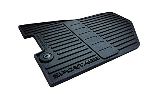 - Kia OEM Genuine 2017-2019 Sportage All Weather Rubber Floor Mats Set (Complete Set)