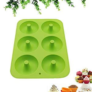 NEW RETAIL LI Nonstick 6-Cavity Silicone Donut Baking Pan - Professional Grade Doughnut Pan Mold