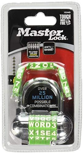 Combination Letter Lock - Master Lock 1534D Padlock, 1-Pack, Assorted