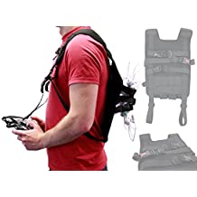 Black Drone Carry Backpack with Safety Straps Compatible with the DJI Phantom 3 Standard | 4K | Advanced | Professional Drone - by DURAGADGET