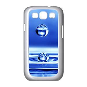 Samsung Galaxy S3 Cases Blue Water Drop 2 for Boys, Samsung Galaxy S3 Case for Girls for Boys [White]