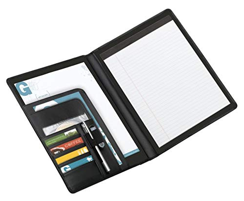 Office Depot Brand Padfolio with Flap Pockets, Black