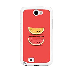 Red and Yellow Yummy Fruit Plastic Material Protective Case for Samsung Galaxy Note 2 (double sg0827)