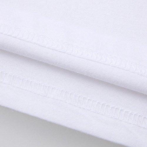 Vovotrade O-cuello de la mujer niña más talla de impresión camiseta manga corta camiseta Blusa, impresión de palma de colores, cruces, yema, dibujos animados desnudo de mama Palma