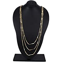 Store Indya Metal Chain 3 Layered Strand Fashion Jewelry Hand Crafted for Women & Girls