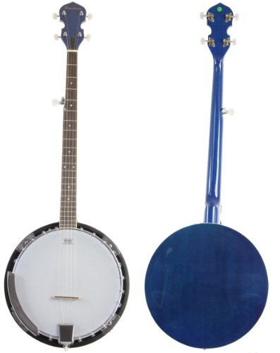 Jameson Guitars BJ005 TBL Blue 5 String Banjo with Closed Back & Geared 5th Tuner by Jameson Guitars