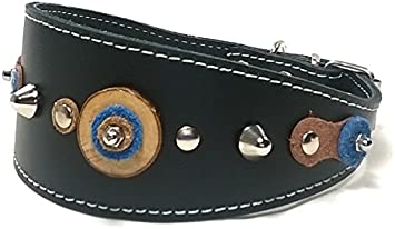 Superpipapo Original Collar de Cuero para Galgo, Podenco, Whippet ...