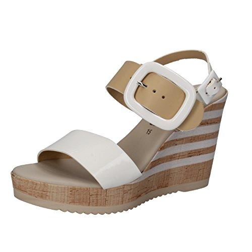 GATIER Bianco zapatos correa Mujer con REPO PHIL Beige by Zwqg7gS