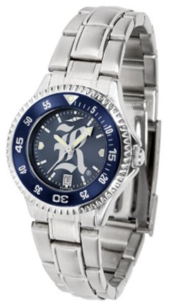 SunTime Rice Owls Competitor AnoChrome Ladies Watch with Steel Band and Colored Bezel