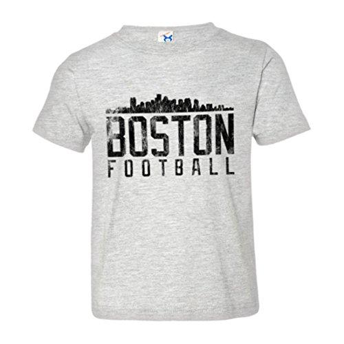 Price comparison product image PleaseMeTees Toddler Boston England Football Distresed Skyline Tee-Grey-2
