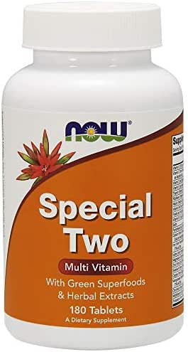 NOW Supplements, Special Two with Super Greens & Herbal Extracts, 180 Tablets