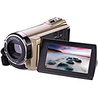 Camcorder, Camcorder with Wifi,DV-5052 1080p Digital Zoom Video Camcorder with Infrared 30FTPS Video Camcorder with Touchscreen, 16X Digital Zoom(Black)