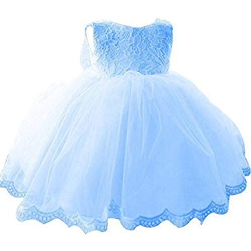 Nnjxd girls 39 tulle flower princess wedding dress for for 12 month dresses for wedding