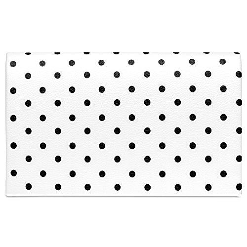 Para Mujer Y Varios Ta425 De Mano Con Puntillos Retro 50 Bolso clutch Negro Diseños Blanco Años Caspar 8q0ngW8