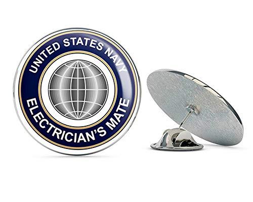 (US Navy Electrician Mate EM Military Veteran USA Pride Served Gift Metal 0.75