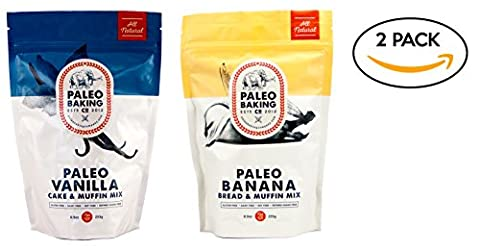 Paleo Baking Company - 2 Pack Variety - Paleo Vanilla Cake & Muffin Mix, Paleo Banana Bread & Muffin Mix