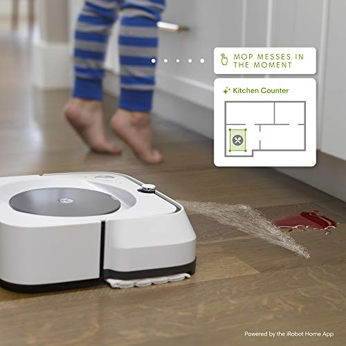 iRobot Braava Jet M6 (6110) Ultimate Robot Mop- Wi-Fi Connected, Precision Jet Spray, Smart Mapping, Works with Alexa, Ideal for Multiple Rooms, Recharges and Resumes