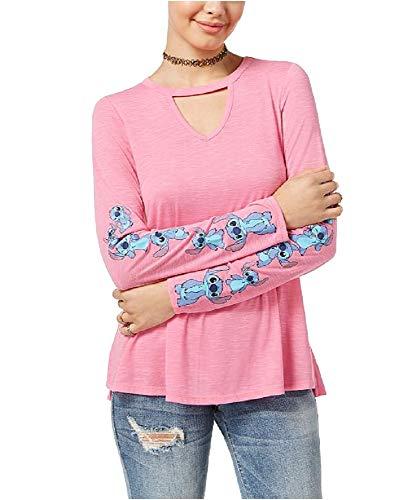 Azalea Hybrid - Hybrid Juniors' Disney Stitch Choker T-Shirt (Azalea, XL)