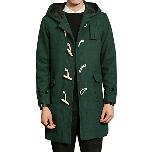 FOMANSH メンズ ラシャコート ロングコート ジャケット 帽子 ダッフルコート 秋 冬 防寒防風 ファッション
