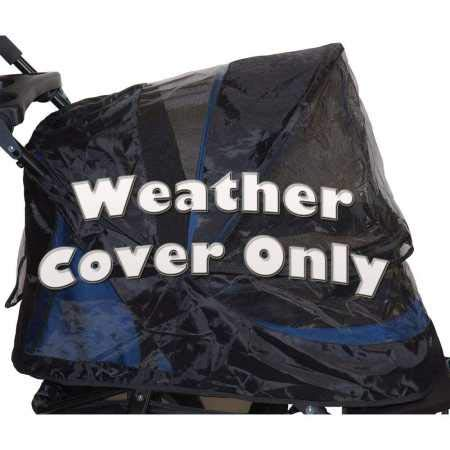 Pet Gear PG8400NZWC Weather Cover for No-Zip Jogger, AT3 and NV Pet Stroller, One Size, Black by Pet Gear
