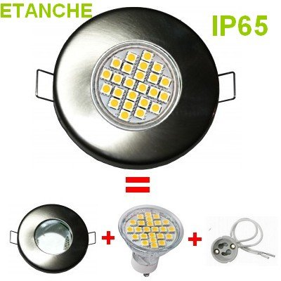 LUMILEDECO - SPOT ENCASTRABLE COMPLET LED ETANCHE IP65 ACIER ...