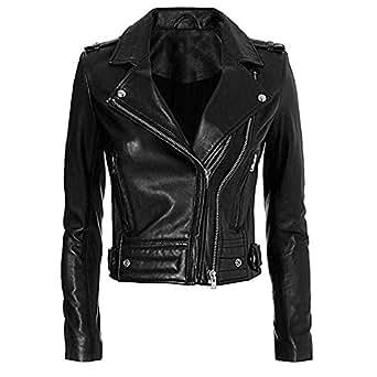 Hot Topic Elegant Women's Winter Vintage Leather Jackets