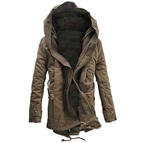 Men's Coat, FORUU Winter Warm Hooded Zip Thick Solid Fleece Outwear Wind Jacket (Coogi Coats)