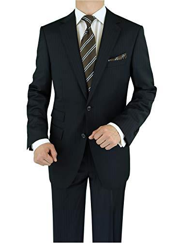 LN LUCIANO NATAZZI Italian Men's Suit 180'S Cashmere Wool Ticket Pocket Stripe (40 Regular US / 50R EU/W 34