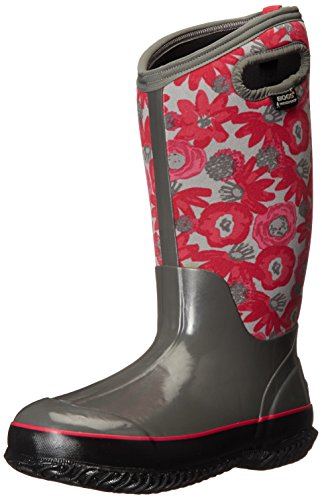 Bogs Women's Classic Watercolor Tall Winter Snow Boot,Gray/Multi,6 M US