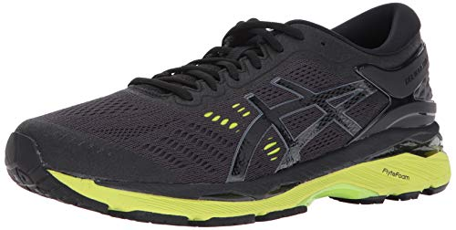 Gel Asics Runners (ASICS Mens Gel-Kayano 24 Running Shoe, Black/Green Gecko/Phantom, 11 Medium US)