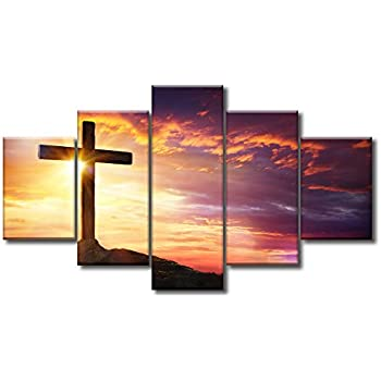 Large Christian Crosses Cross Wall Art Christ Poster Canvas Prints Home Decor For