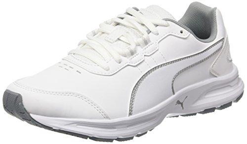 Puma Damen Descendant V4 Sl Laufschuhe, Weiß-Weiß (White / Silberfarben), 39 EU