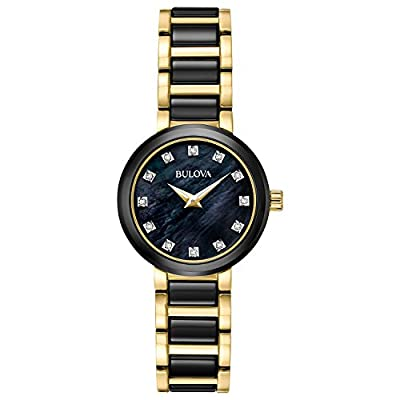 Bulova Women's Quartz Stainless Steel Dress Watch, Color:Two Tone (Model: 98P159)