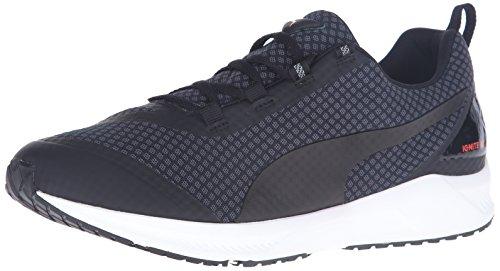 PUMA Men's Ignite XT Core Running Shoe, Asphalt/Black/Red Blast, 9.5 D US