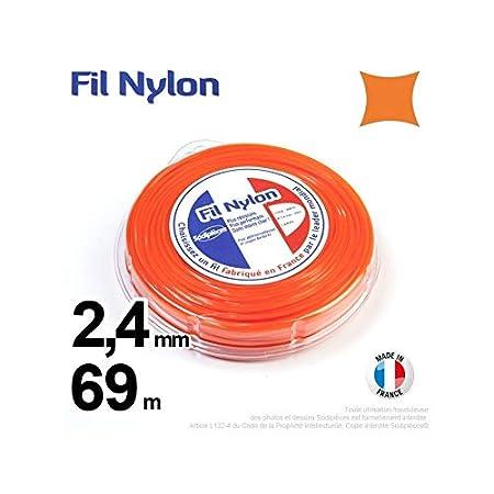Hilo Desbrozadora Nylon Cuadrado 2,4 mm par 69 m en carcasa Color ...
