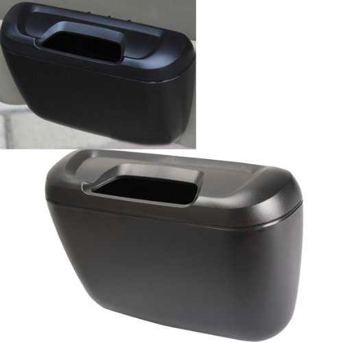 Vktech Multifunctional Trash Garbage Dust Box Tissue Box Litter Container (Black)