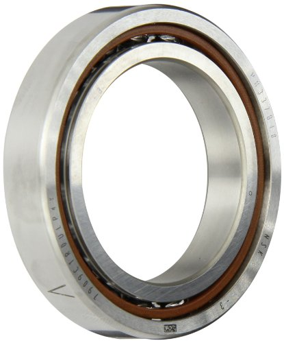 NSK 7909CTRDULP4Y Super Precision Angular Contact Bearing, 15° Contact Angle, Straight Bore, Open Enclosure, Phenolic Cage, Normal Clearance, 45mm Bore, 68mm OD, 0.472