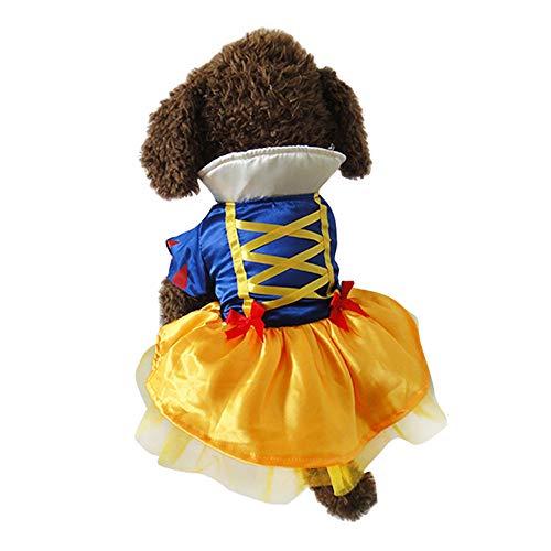 KINGSWELL Halloween Fancy Dress Custume Princess Puppy Dress Small Pet Apparel Cat Dog Skirt ()