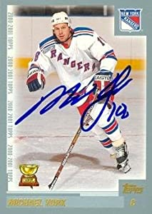 Autograph Warehouse 68196 Mike York Autographed Hockey Card New York Rangers 2000 Topps No. 61
