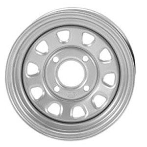 ITP Delta Steel Wheel 12x7 4+3 4/137 SIL CanAm for Kawasaki Suz