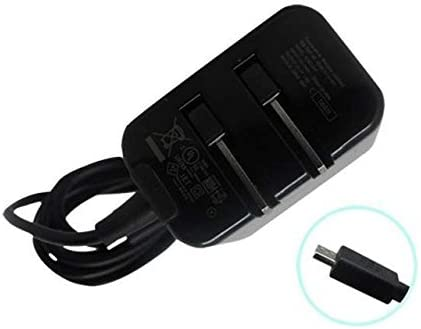 PRO Folding Blade Charger Works for ROKU Express Plus with Durable 5Ft/ 2M MicroUSB Cable!