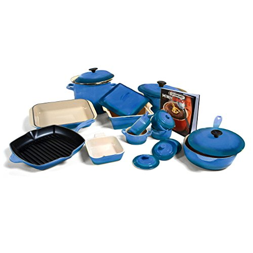 Le Creuset Marseille Blue Mixed 20 Piece Cookware Set