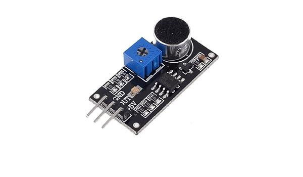 uxcell LM393 Sound Detection Sensor Module DC4-6V Black