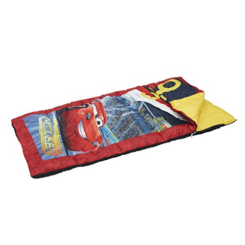 Exxel Outdoors Disney Cars 3 Kids Sleeping Bag - 45 Degree, Blue