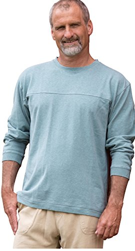 Horizon Long-Sleeve Hemp/Organic Cotton Tee Pullover (Eucalyptus, Large)