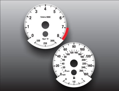 - 2007-2008 E90 E92 335i BMW 3 Series White Face Gauges